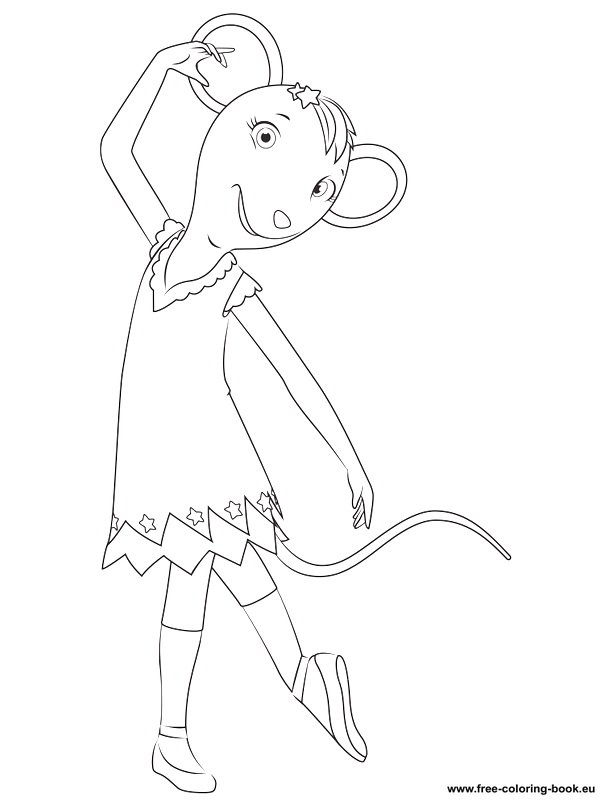 Coloring pages Angelina Ballerina - Printable Coloring ...
