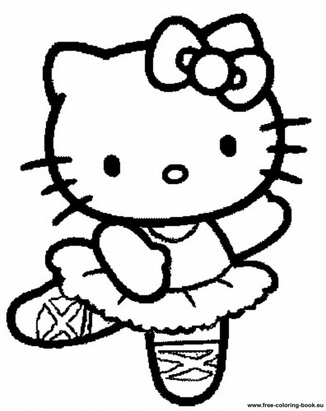 hello kitty coloring pages online and free | Coloring pages Hello Kitty - Printable Coloring Pages Online
